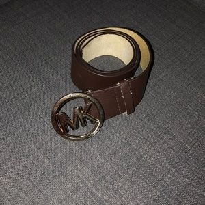 Michael Kors brown belt with gold buckle